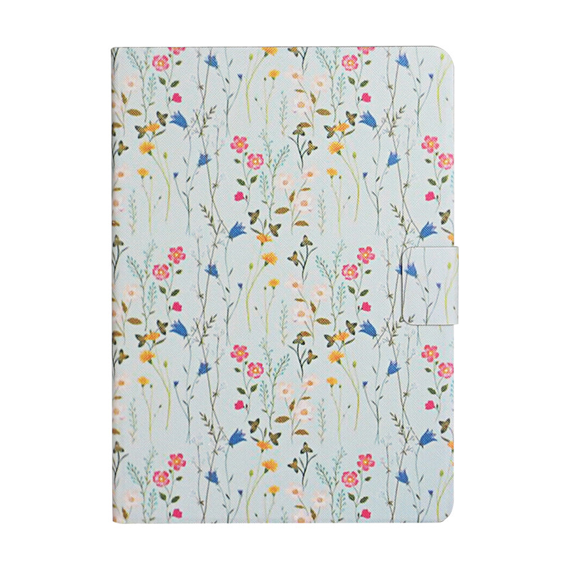 colorful flower Green Case for iPad 7th Generation Case Flower Painted Cover Funda for Apple iPad 10 2 2019