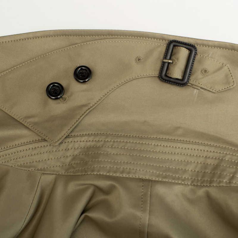 Casaco longo homens blusão plus size S-6XL masculino cáqui trench coat homem duplo breasted casaco masculino kj267