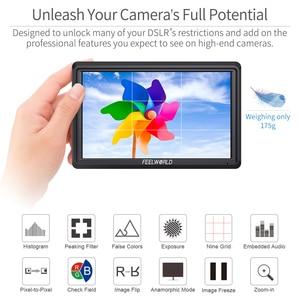 Image 4 - FEELWORLD S55 5.5 inch DSLR Camera Màn Hình 4K HDMI MÀN HÌNH LCD IPS HD 1280x720 Màn Hình Hiển Thị Trường Màn Hình 8.4V DC Đầu Ra cho Nikon Sony Canon