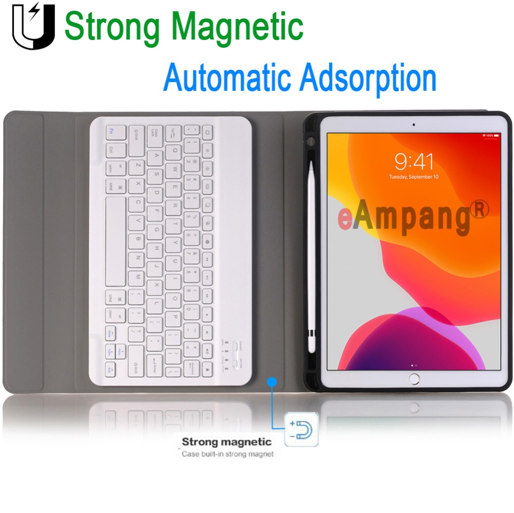ipad Case Detachable 7 10.2 A2232 A2198 Generation A2197 For 7th A2200 Keyboard 8th 2019