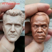 1/6 escala mel gibson e danny glover masculino cabeça escultura apto para 12