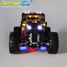 SuSenGo LED Light kit For Technic 4X4 X-treme Off-Roader Building Blocks Lighting Set Compatible with 42099 (Model Not Included)