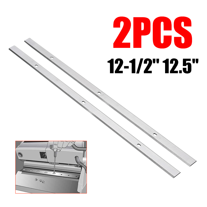 2PCS Planer Steel Industrial Planer Jointer Knives Blades Double Edged Planer Blades For Planer AP-12 Replacement 320*12*1.5mm