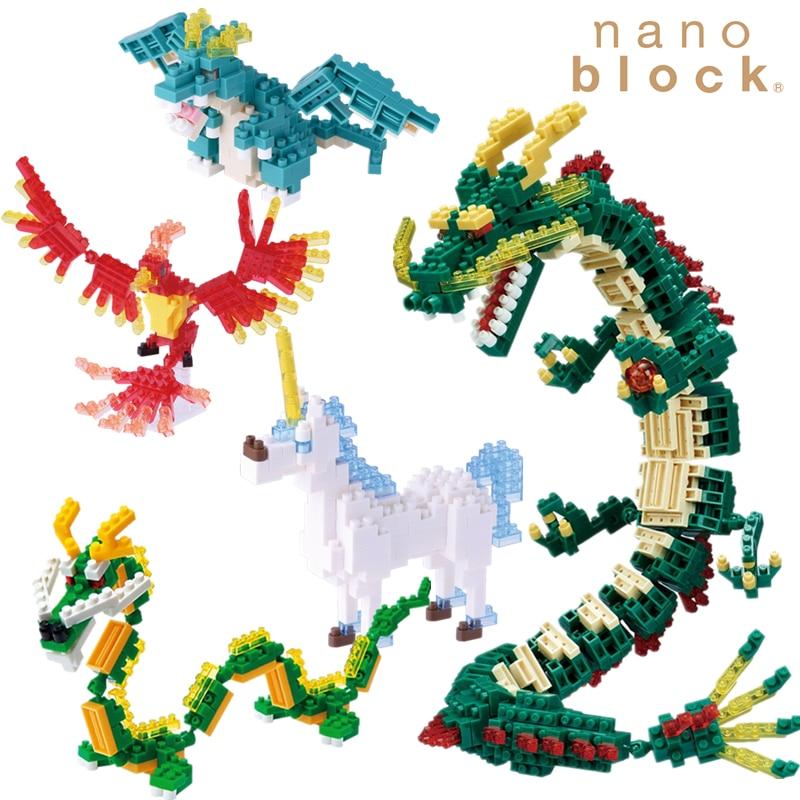 Nanoblock Divine Beast Animal Dinosaur Anime Cartoon Diamond  Micro Block Building Blocks Bricks Educational Toys Games  Model