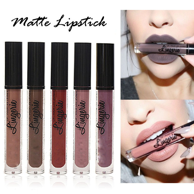 New Brand Makeup Lipstick Matte Lipstick Brown Nude Chocolate Color Liquid Lipstick quality Lip Gloss Matte Batom nyxd Lip Tint 4