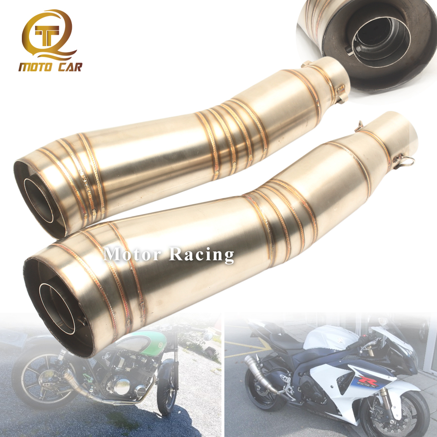 Universal Gp Exhaust DB Killer 51 Muffler Escape for <font><b>Yamaha</b></font> Xmax <font><b>Mt</b></font> <font><b>125</b></font> Aerox Msx <font><b>125</b></font> Xt 600 Ybr <font><b>125</b></font> Z250 Z750 Z800 Z900 Z1000 image
