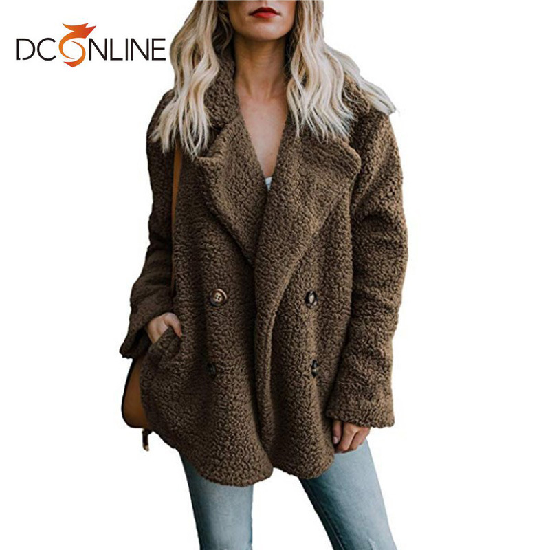 12 Color Women   Jacket   Plus Size Fur Coat Casual Full Turn-down Collar Solid   Basic     Jacket   Autumn Woman Clothes Winter Outfits