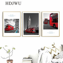 Nordic Home Wall Painting Art City Scenery Canvas Printing Posters Pictures for Living Room AJ00334