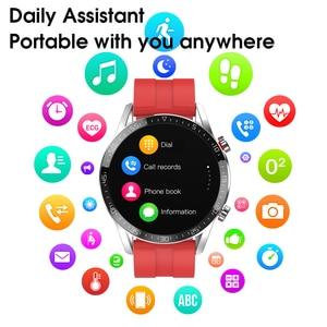 "Image 5 - חדש L13 חכם שעון גברים IP68 עמיד למים אק""ג PPG Bluetooth שיחת לחץ דם קצב לב כושר גשש ספורט Smartwatch"