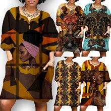 Robe Africaine en Bazin pour femmes, nouvelle collection, élastique, imprimé Dashiki, vêtements de fête, riche, 2021