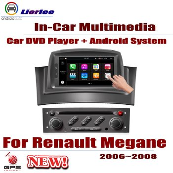For Renault Megane II 2006-2008 Car Android GPS Navigation DVD Player Radio Stereo AMP BT USB SD AUX WIFI HD Screen Multimedia image