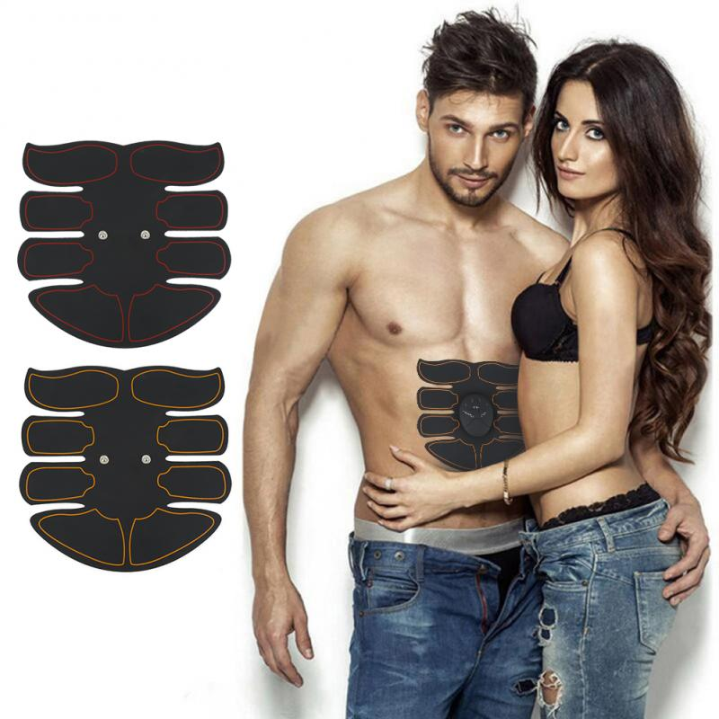 Smart Abdominal Muscle Trainer Sticker EMS Micro-Current ABS Massager Stimulator Pad Exercise Fitness Gym Gear Lazy Equipment
