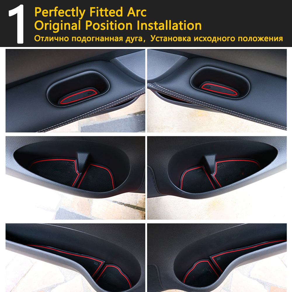 Image 5 - Anti Slip Rubber Cup Cushion Door Groove Mat for VW POLO MK6 Volkswagen 2018 2019 2020 Accessories Car Stickers mat for phone-in Car Stickers from Automobiles & Motorcycles