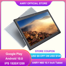 ANRY N60 4G Tablet Android 10 Phone Call 8 Core 4GB RAM 64GB ROM 10.1 Inch Tablet PC 1920x1200 IPS Dual Wifi GPS 6000mAh Phablet