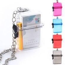 Новинка, 1 шт., водонепроницаемый прозрачный чехол для сигарет, коробка на цепочке, пластиковая прозрачная сумка, коробка для хранения, портативная, для клуба, путешествий