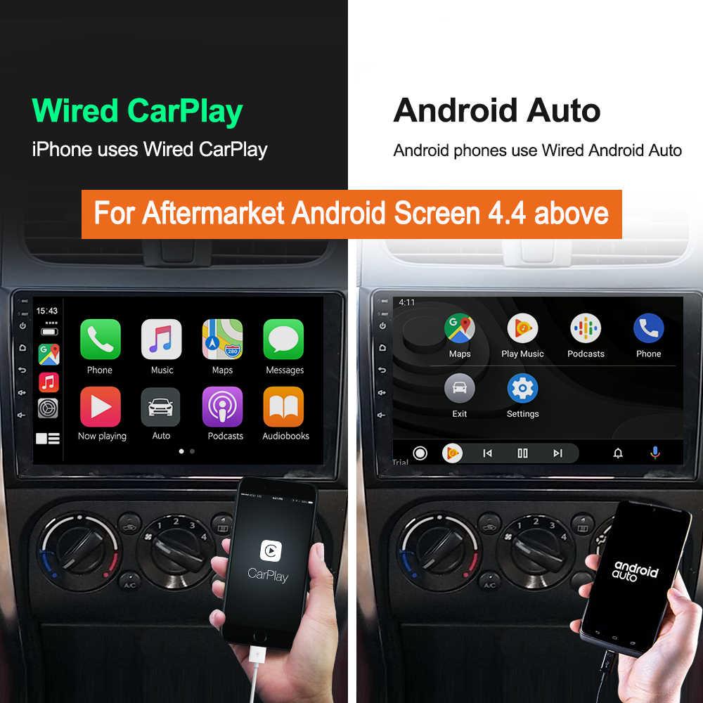 Carlinkit有線アップルcarplayドングルandroidの自動androidのカーサービス自動販売airplay autokitマップ音楽usbスマートリンク