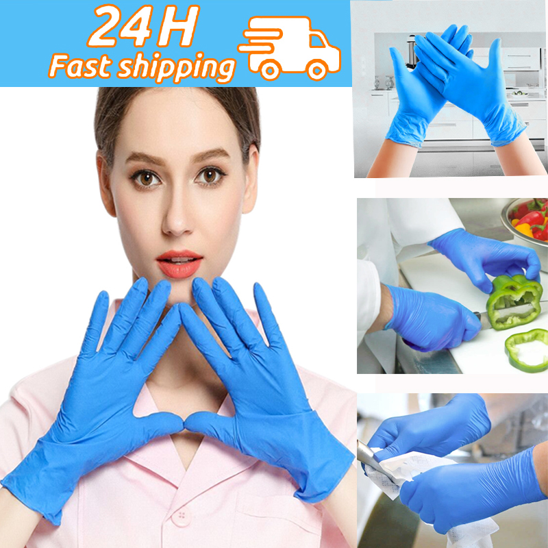 20/100 Pieces Disposable Latex Gloves Cleaning Food Gloves Universal Garden Home Cleaning Gloves Rubber Glove