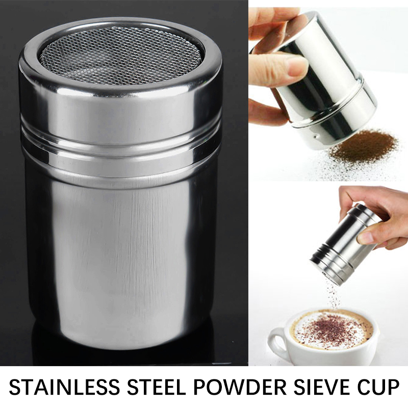 Flour Coffee Sifter Stainless Steel Sifter Powder Shaker Mesh Cing Sugar BBQ Outdoor Portable Safe Durable Suitable Kitchen