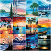 HUACAN DIY Paint By Number Tree Scenery HandPainted Kits Drawing Canvas Pictures Home Decoration Oil Painting Summer Gift