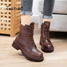 Oryginalne skórzane buty damskie marki śniegowe buty zimowe futrzane ciepłe wygodne damskie buty Dr z pudełkiem G2510