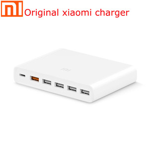 Image 5 - Original xiaomi USB charger 60W smartphone pad charging output 1 Type C 6 port 5 USB A dual QC 3.0 fast charging 18W x2 adapter