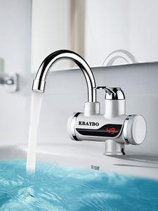 KBAYBO Faucet Water-Heater Bathroom Electric Instant Temperature-Display Tankless Kitchen