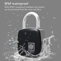 Smart Lock Keyless Fingerprint Lock IP65 Waterproof cerradura inteligente Anti Theft Security Padlock Door Luggage Case Lock|Electric Lock| |  -