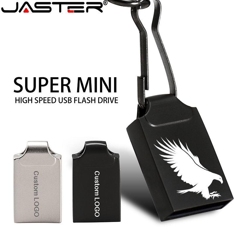 Super Mini USB Flash Drive Metal USB Stick 64GB Pen Drive 128GB 32GB 16GB 8GB 4GB Waterproof Pendrive Flash Disk Custom Logo