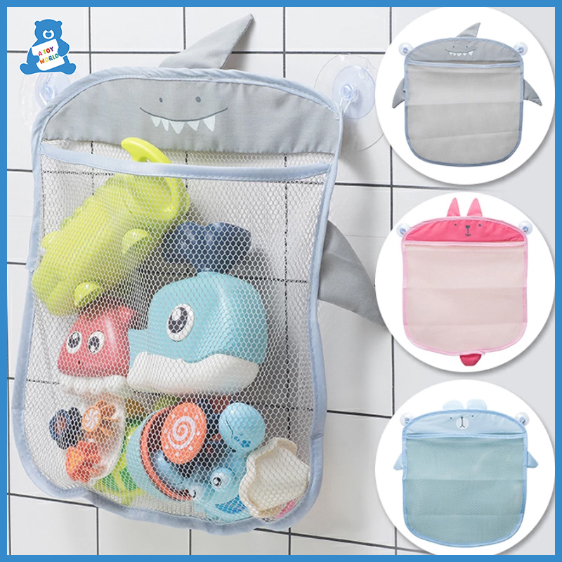 Baby Bath Toys Cute Duck Frog Mesh Net Toy Storage Bag Strong Suction Cups Bath Game Bag Bathroom Organizer Water Toys for Kids 6