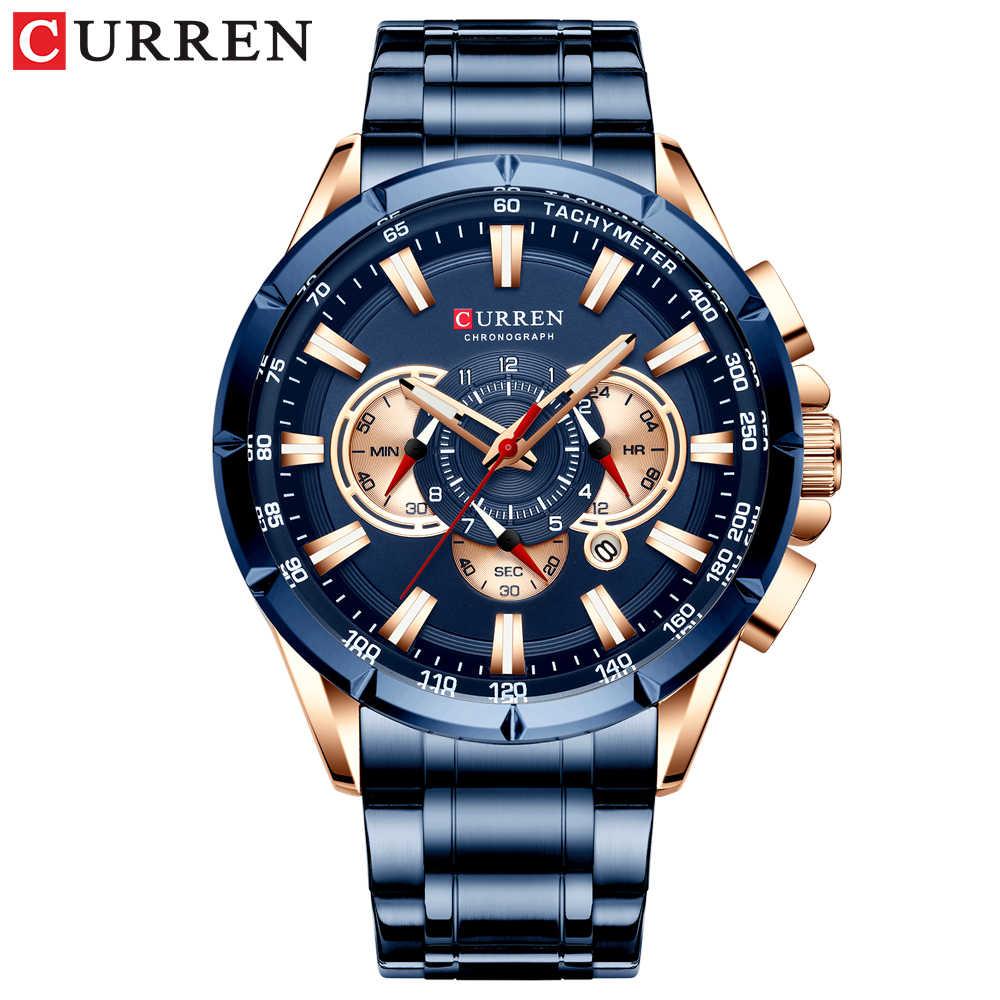CURREN montre-bracelet hommes étanche chronographe militaire armée en acier inoxydable mâle horloge haut marque de luxe homme Sport montres 8363