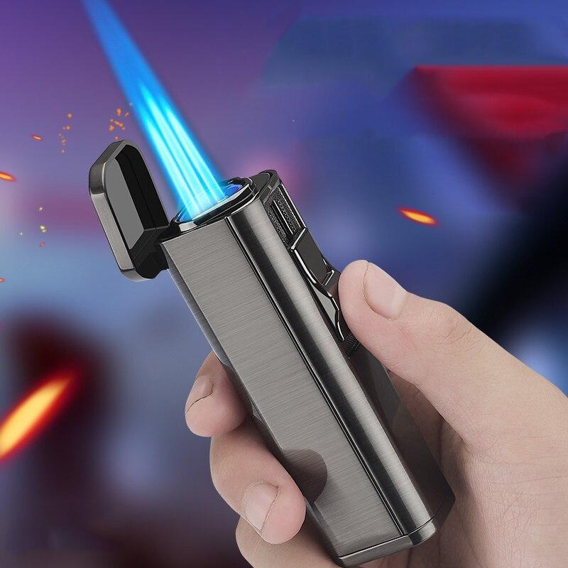 Купить металлический тройной фонарь зажигалка для струи турбо сигарет