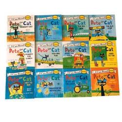 12 шт./компл. я могу читать Кот Пит книги с картинками на английском Детские сборники сказок раннее образование карманная книга для чтения
