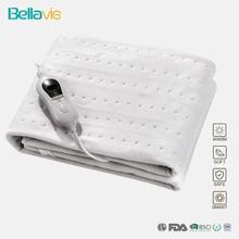 Kral boyutu 150*80cm 220V 240V 60W olmayan dokuma kumaş elektrikli battaniye tek yatak ısıtma Underblanket 3 isı ayarı ab tak