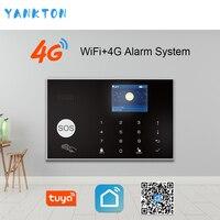 Tuya 433 МГц беспроводной Wi-Fi 4G & 3g домашняя система охранной сигнализации 11 языков охранная сигнализация хост приложение пульт дистанционного ...
