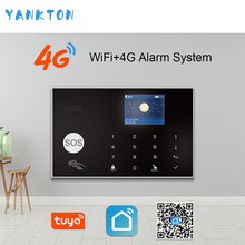 Tuya 433MHz Wireless WIFI 4G&3G Home Security Alarm System 11 Languages Burglar Alarm Host APP Remote Control For Android&IOS цена 2017