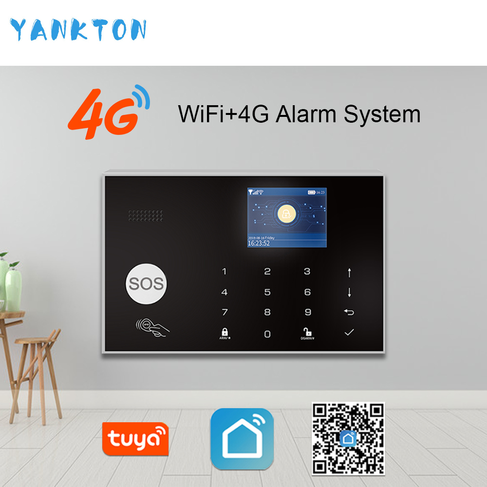 Tuya 433MHz Wireless WIFI 4G&3G Home Security Alarm System 11 Languages Burglar Alarm Host APP Remote Control For Android&IOS image