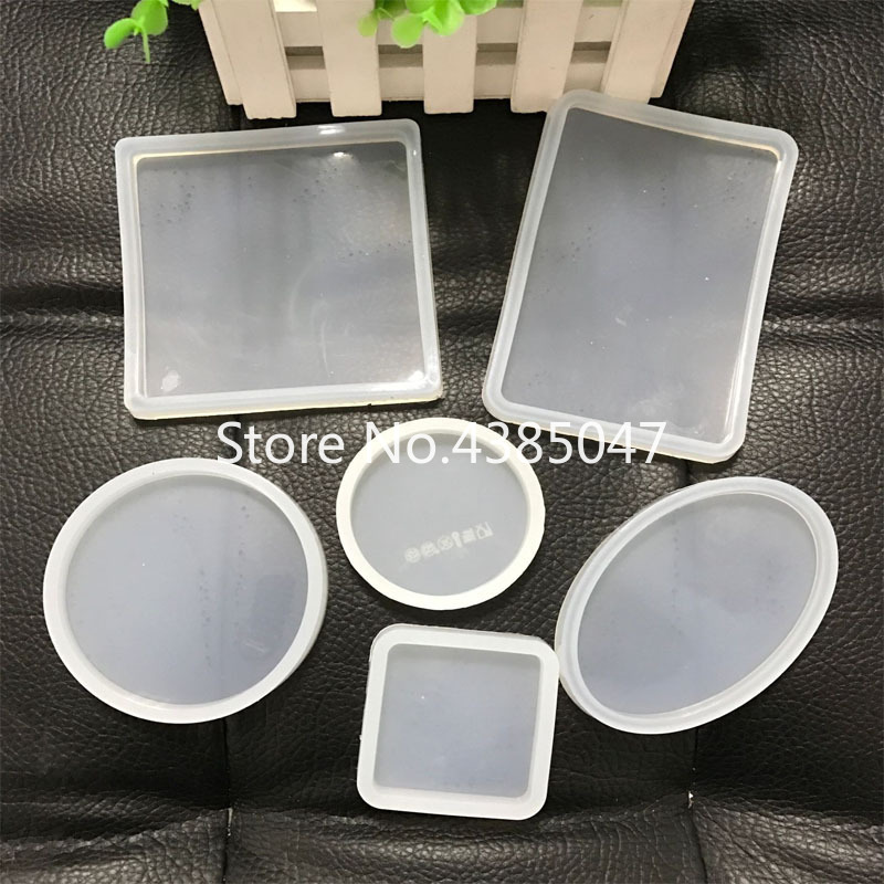 Rectangle Round Square Oval Shaped Glue UV Expoxy Silicone Mold For Jewelry Resin Silicone Mould Handmade DIY Epoxy Resin Molds