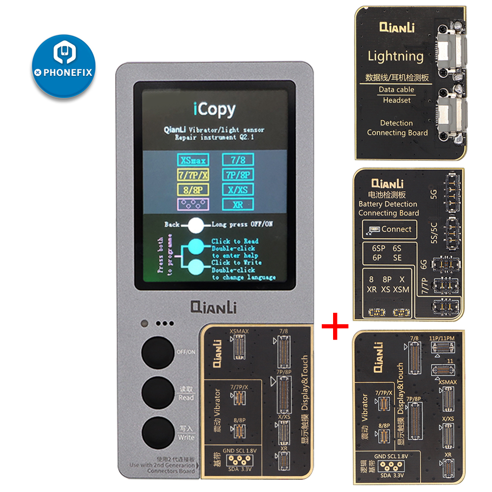 QianLi ICopy Plus With Battery Detection Connecting Board For IPhone 7 8 X XR XS MAX 11 Pro Max Vibration/Touch EPROM Repair