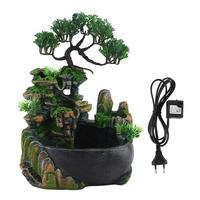 Resin Waterfall Desktop Fountain Zen Meditation Waterfall for House Home Decoration( Without Color Changing Led Lighting )