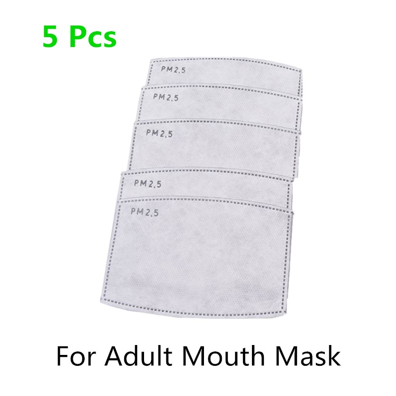 5 Pcs/Lot PM2.5 Filter Paper Anti Haze Mouth Mask Anti Dust Mask Filter Paper Health Care