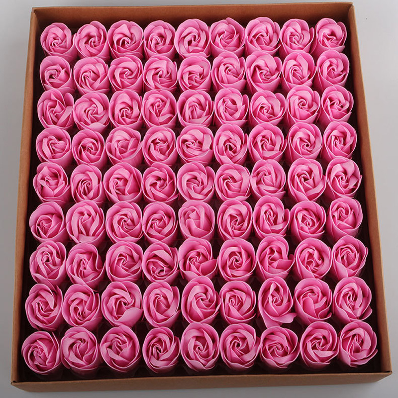 02154 Rose Soap Baseless Flower Head Valentine 39 s Day Chocolate Box Packing Flowers in Gift Bags amp Wrapping Supplies from Home amp Garden