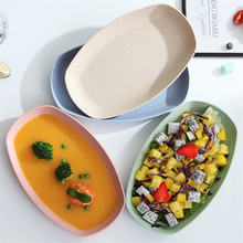 4 шт большая тарелка из пшеничной соломы овальной формы креативные
