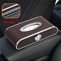 Auto uhr auto tissue Box Luxus PU Leder Auto Papier Box Halter Abdeckung Fall Tray für Home Office Automotive-in Taschentuchboxen aus Kraftfahrzeuge und Motorräder bei