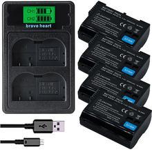 Bateria EN EL15 ENEL15 EN-EL15 Батарея пакет для Nikon D500,D600,D610,D750,D7000,D7100,D7200,D800,D800E, D810, D810A & 1 v1
