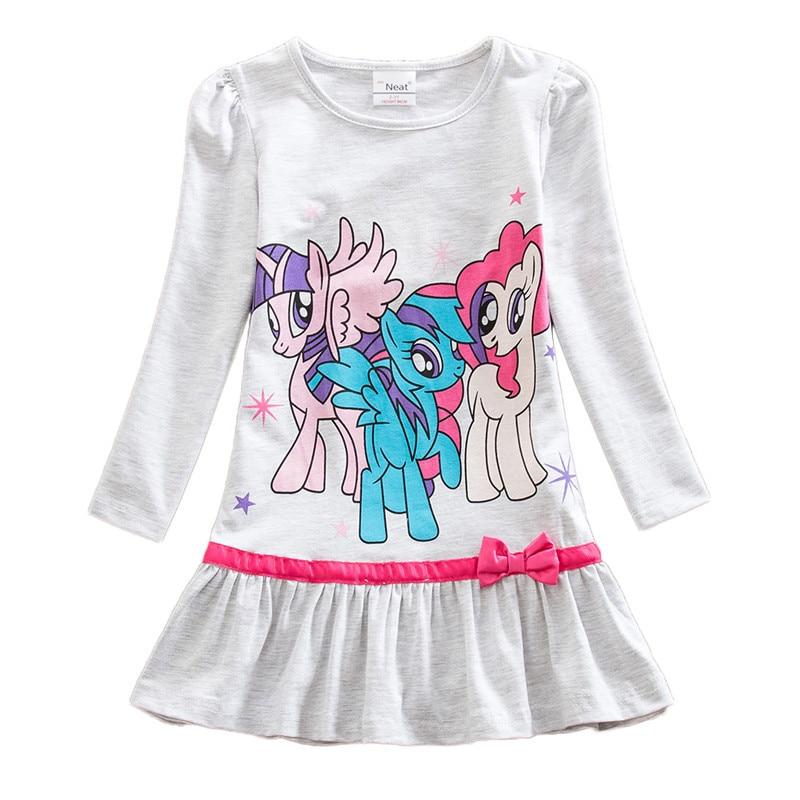 Dxton Kids Dress For Girls Cartoon Girls Clothes With Animal Girls Dress Long Sleeve Autumn and Winter Dress Children Clothing 6