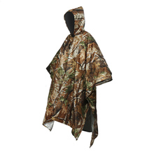 5*Color Camping Rain Coat Hood Mountain Tarp Hiking Outdoor Backpack Cover Poncho Cape Multifunctional