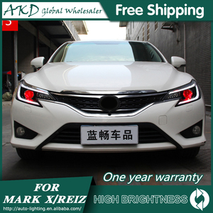 Faros delanteros para coche Toyota Mark X 2013-2017 Reiz DRL luz de día luz principal LED Bi Xenon bombilla antiniebla Tuning accesorio de coche