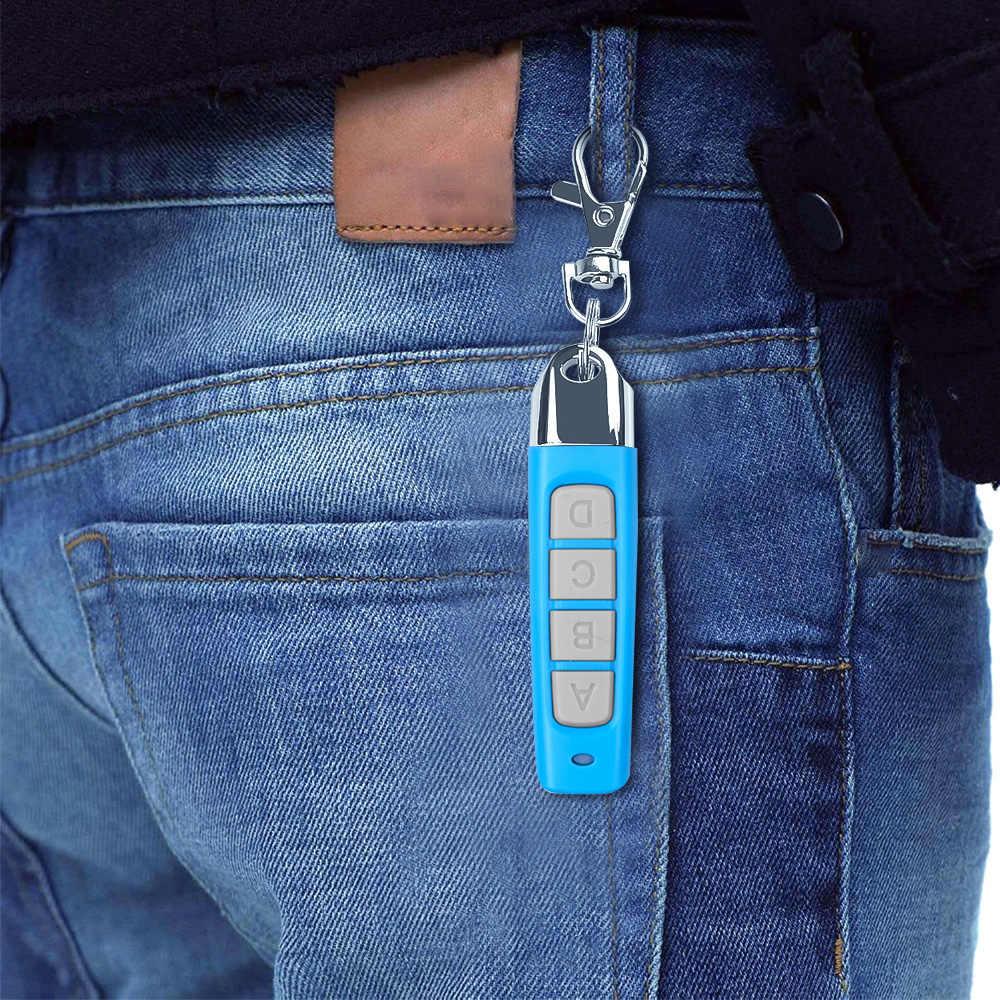KEBIDU 433MHZ télécommande de porte de Garage paire automatique copie à distance ouvre-porte de Garage télécommande duplicateur 4 boutons clés