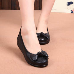 Новинка 2019 года; женские туфли на плоской подошве из натуральной кожи в стиле Вэньчжоу; Повседневная обувь; женская обувь с бантом; обувь