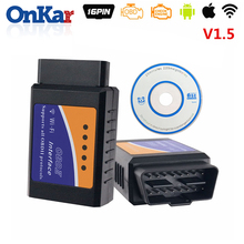 ONKAR ELM327 WIFI OBD2  V1.5 Car Diagnostic Scanner Tool Auto Code Reader Multi-Language For iOS iphone Android Radio GPS